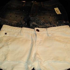 Pants - 2 pair juniors shorts